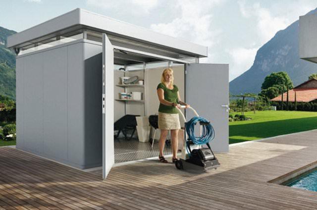 Gartenhaus Holz Hagebaumarkt ~ Das Moderne Gartenhaus Aus Metall Pictures to pin on Pinterest